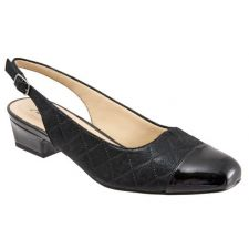 Trotters Black Quilted Dea Adjustable Sling Strap Womens Dress Shoes T7001-015