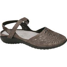 11124-B77 Grey Shimmer Leather Arataki Womens Noat Sandals