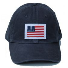 Richardson Custom Woven American Flag Patch Cotton Twill Charcoal OSFM Ballcap 320-CH-USA