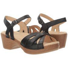 Dansko Season Black Full Grain Womens Comfort Sandals 9849-022200