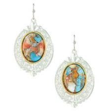 Montana Silversmith Sweet Memories Mountain Glacier Turquoise Earrings ER3920MTQ