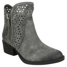 Not Rated Grey Etta Womens Casual Side Zip Short Ankle Boots ETTA