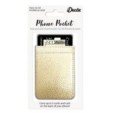 IDecoz Gold Leather Phone Pocket GD451C
