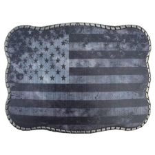Wallet Buckle Greyscale USA Flag Belt Buckle