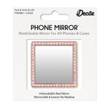 IDecoz Rose Gold Crystals Phone Mirror SQ222M
