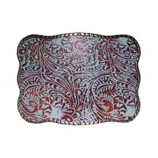 Wallet Bucklet Turquoise Print Design #2 Belt Buckle
