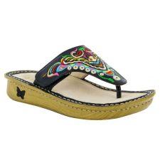Alegria Vanessa Chrysalis Black Womens Comfort Thong Sandals VAN-259