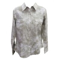 0305000600700WH White Roper Womens Long Sleeve Snap Western Shirt