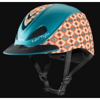 Trozel Teal Aztec Fallon Taylor Riding Helmet 404-407