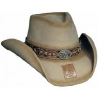 0437S B.KIDD Sand Weathered Wool Monte Carlo Western Cowboy Hats