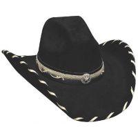 0602BL STRAIGHT SHOOTER Black Buckskin Western Cowboy Hats