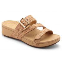 Vionic Gold Cork Rio Platform Womens Comfort Sandal