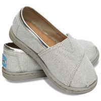 Toms Classic Tiny Silver Glimmer Canvas Kids Casual 10002871