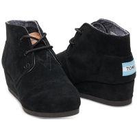 Toms Desert Wedge Black Kids Ankle Boot 10003553