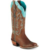 10007852 Caballera Weathered Brown Square Toe Ariat Women Cowboy Boots