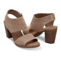 10009813 Desert Taupe Suede Womens Majorca Cutout Toms Sandals