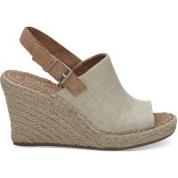 Toms Natural Hemp Monica Womens Rope Wedges 10011843