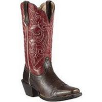 10011890 ROUND UP Brown Ariat Womens Western Cowboy Boots