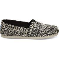 Toms Black Diamond Woven Womens Classic Shoes 10012648