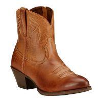10017323 Brown Darlin Ariat Women's Western Round Toe Booties