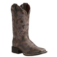 Ariat Tack Room Chocolate Quickdraw 11 Inch Shaft Womens Western Boots 10021616