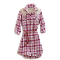 Karman Roper Raspberry Check Tin Haul Collection Womens Shirt Dress
