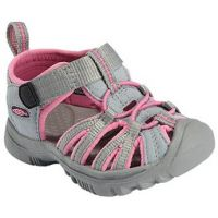 Keen Whisper Grey/Pink Polyester Kids Waterproof Sport Sandal 1008538