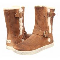 UGG Bailey Buckle Chestnut Suede Kids Boots 100880K