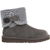 UGG Darrah Knit Grey Suede/Fabric Kids Boots 1013859K-GRY