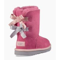 UGG Bailey Bow II Pink Kids Short Boots 1017394K-PINK