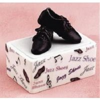 103040 Porcelain Jazz Shoe Trinket Storage Box