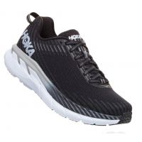 Hoka Black/White Clifton 5 Womens Comfort Running Shoes 1093756