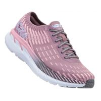 Hoka Cameo Pink Toadstool Womens Clifton 5 Knit Comfort Shoes 1094310