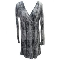 11-057-0514-0639GY Grey Snake Print Stetson Womens Long Sleeve Dress