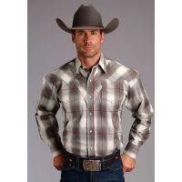Karman Roper Ash Ombre Stetson Mens Long Sleeve Western Shirt 1100104780751GY