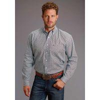 Karman Roper Corner Geo Print Stetson Mens Long Sleeve Western Shirt 1100105260409BU