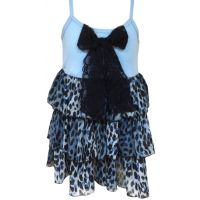 1100B-1 Leopard Chiffon Ruffle Jody of California Infant Girls Dresses