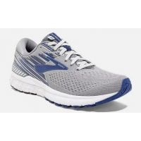 Brooks Grey and Blue Adrenaline GTS 19 Mens Comfort Running Shoes 110294-058