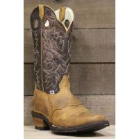 RockinLeather Mens Distressed Brown Snip Toe Western Boot 1135
