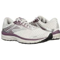 Brooks White/Purple Womens Adrenaline GTS 18 Running Shoes 120268-104