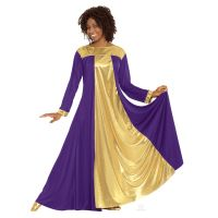 Eurotard Purple/Gold Adult Resurrection Dress 14820