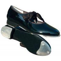 Barbette Black Pat Tyette Student Tap Kids Shoes 1553C