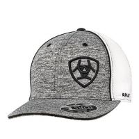 Ariat Grey and White Mens Logo Cap 1504901