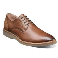 Florshiem Tan Mens Union Plain Toe Oxford Comfort Shoe 15125-257