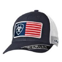 Ariat Blue  Mens USA Flag Ball Cap 1517603