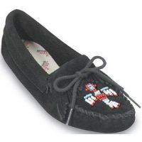 Thunderbird Beaded Softsole Casual Minnetonka Moccasin Womens Shoes