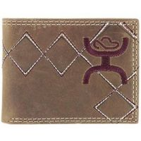 Hooey Men's Brown Hooey Embroidered Bi-Fold Wallet  1642161W4