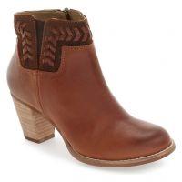 20310-SKKH Kamahoi Leather Block Heel Olukai Womens Ankle Bootie