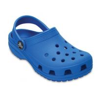 Crocs Ocean Blue Kids' Classic Slide On Clog Shoes 204536-456