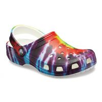 Crocs Tie-Dye Graphic Classic Womens Comfort Clogs 205453-90H